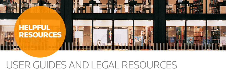 Helpful Resources - User Guides & Legal Resources